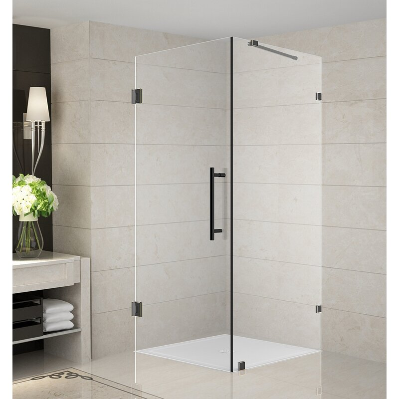 Aquadica 30 X 72 Hinged Frameless Shower Door