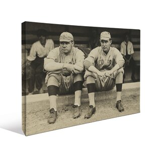 Babe Ruth Vintage Baseball Dugout Photographic Print