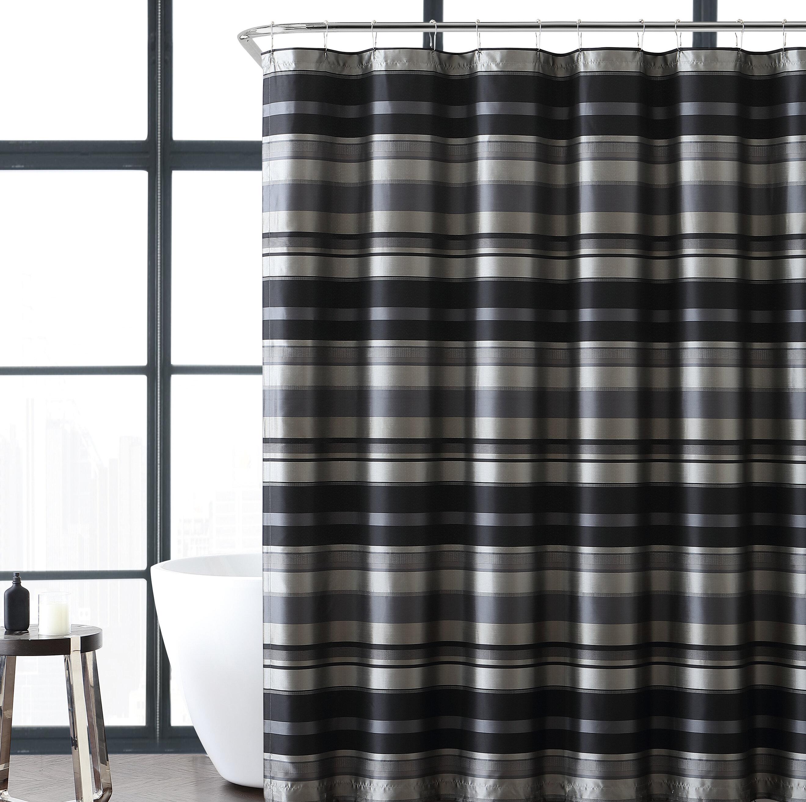 Charlton Home Heuer Stripe Shower Curtain