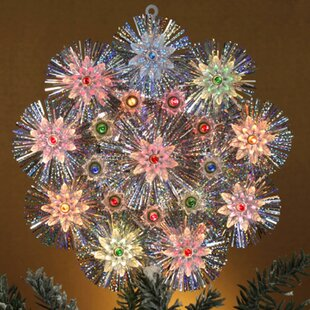 Retro Tinsel Snowflake Christmas Tree Topper