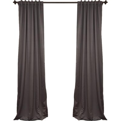 Alcott Hill Aldreda Extra Wide Solid Blackout Thermal Rod Pocket Single Curtain Panel Size per Panel: 108 L x 100 W, Color: Charcoal