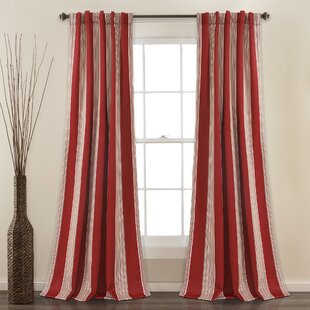 Red Striped Curtains Drapes Youll Love