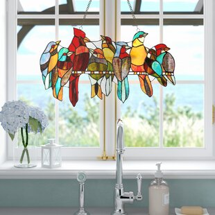 triangle windows for sale gable wall tiffany glass window panel stained panels youll love wayfair