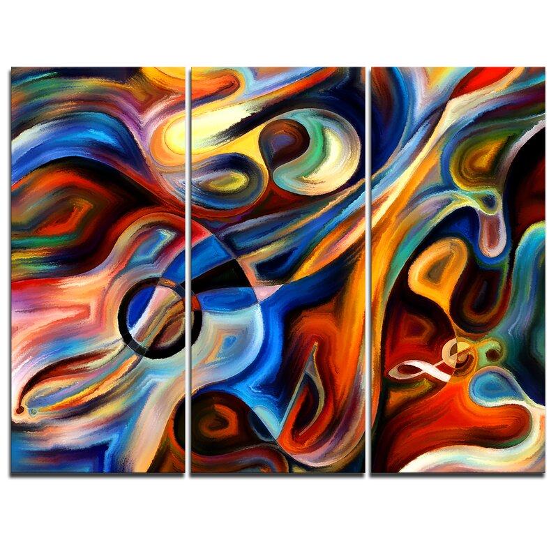DesignArt Abstract Music And Rhythm