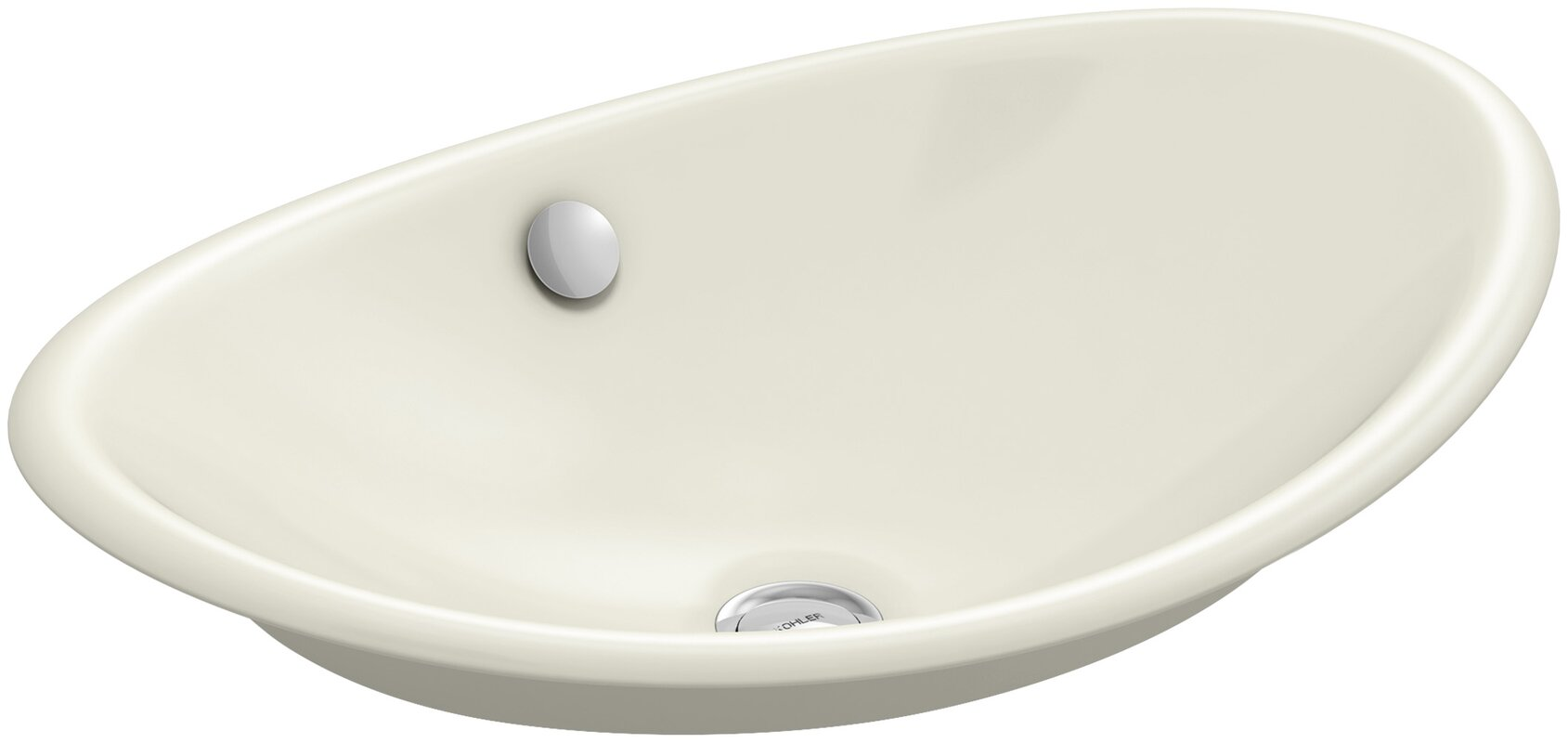 iron plains™ metal oval vessel bathroom sink with overflow. kohler iron plains™ metal oval vessel bathroom sink with overflow
