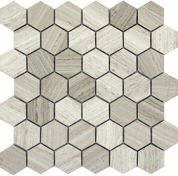 Metro 12 X Limestone Large Hexagon Mosaic Tile