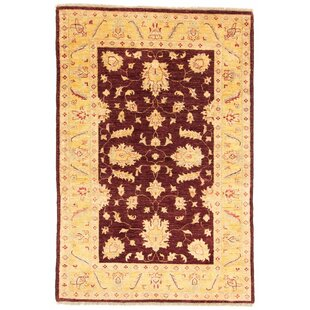 Granjeno Hand Knotted Wool Beige/Red Rug by Rosalind Wheeler