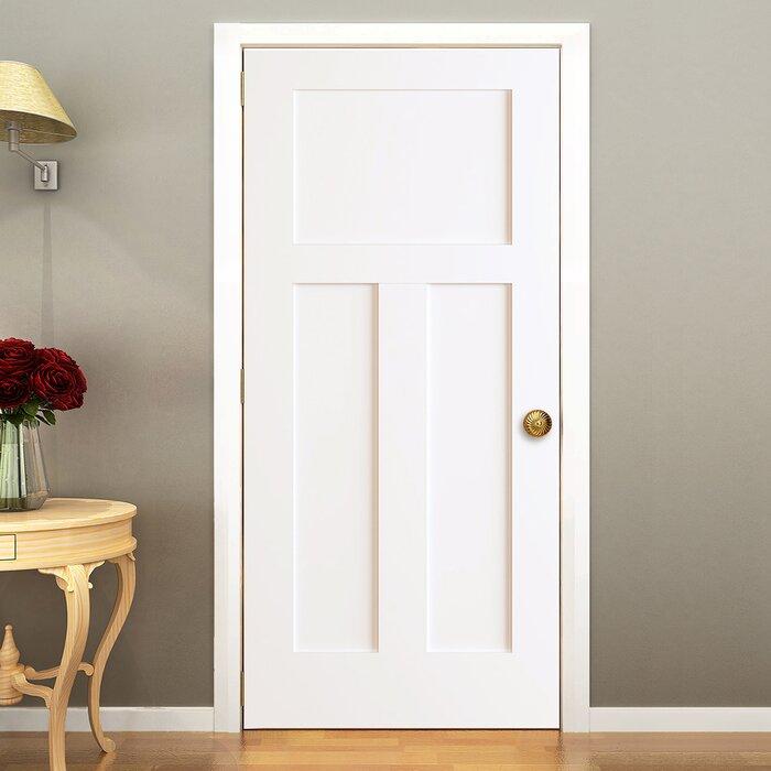 Kiby 3 Panels Shaker Solid Wood Panelled Slab Interior Door