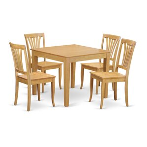 Oxford 5 Piece Dining Set by Wooden Impor..