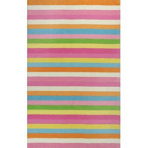 Shari Chic Pink Stripes Area Rug