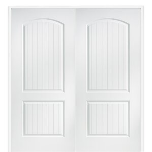 Delightful Cashal Smooth Surface Solid Panelled Prehung Interior Double Door