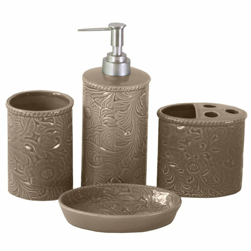 darby home co bessie savannah 4-piece bathroom accessory set