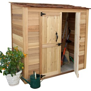 garden chalet 6 ft 3 in w x 3 ft d wooden lean