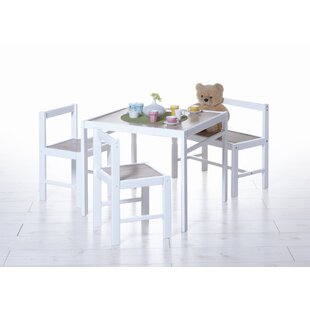 Children 4 Piece Square Table and Chair Set by TICAA