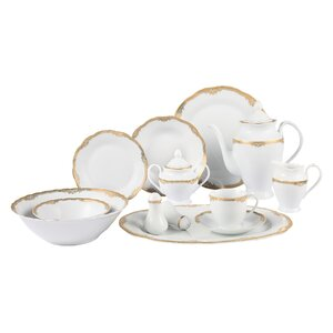 Catherine 57 Piece Dinnerware Set, Service for 8