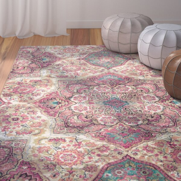 Mistana Asherman Purple Pink Cream Area Rug Amp Reviews