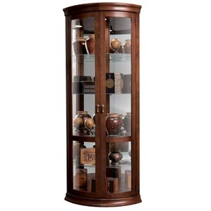 Chancellor Lighted Corner Curio Cabinet b..