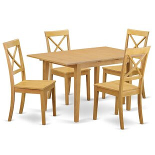 Balfor 5 Piece Solid Wood Dining Set
