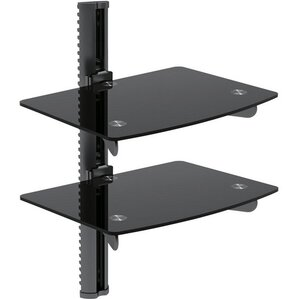 Universal 2 Glass Shelf DVD bracket by GGI International