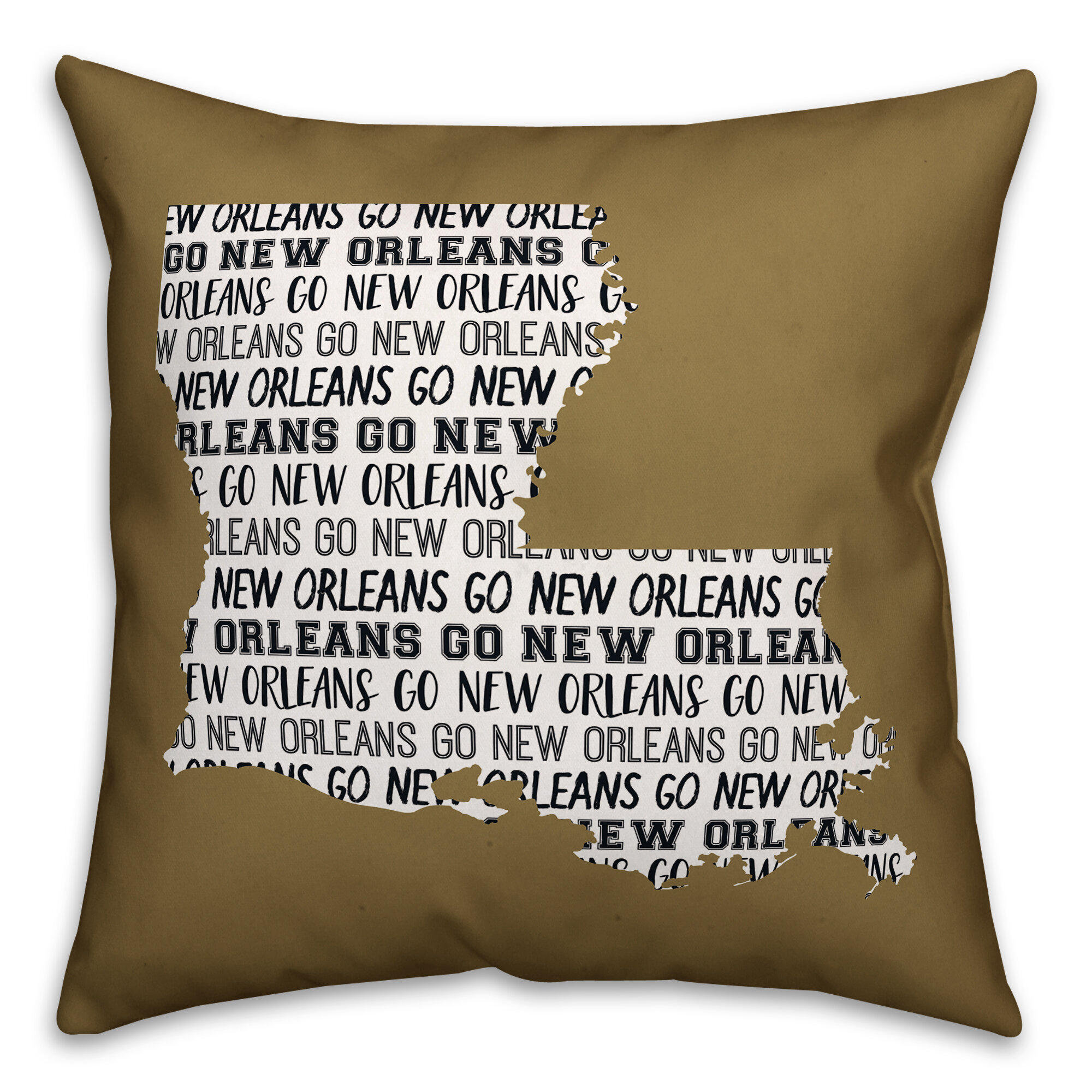 Ebern Designs Crandall Go New Orleans Indoor Outdoor Throw Pillow Wayfair