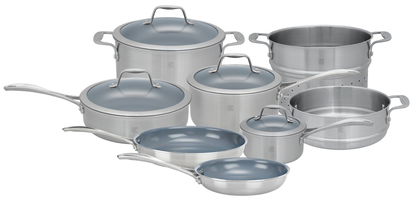 Zwilling JA Henckels Spirit 12 Piece 3 Ply Non-Stick Stainless ...