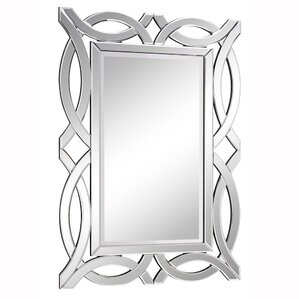 Silver Rectangle Wood Wall Mirror