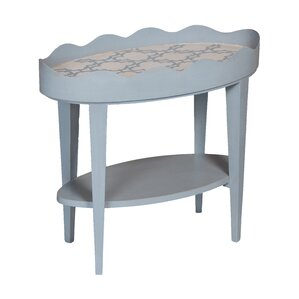 Authier Scallop Oval End Table by August Grove
