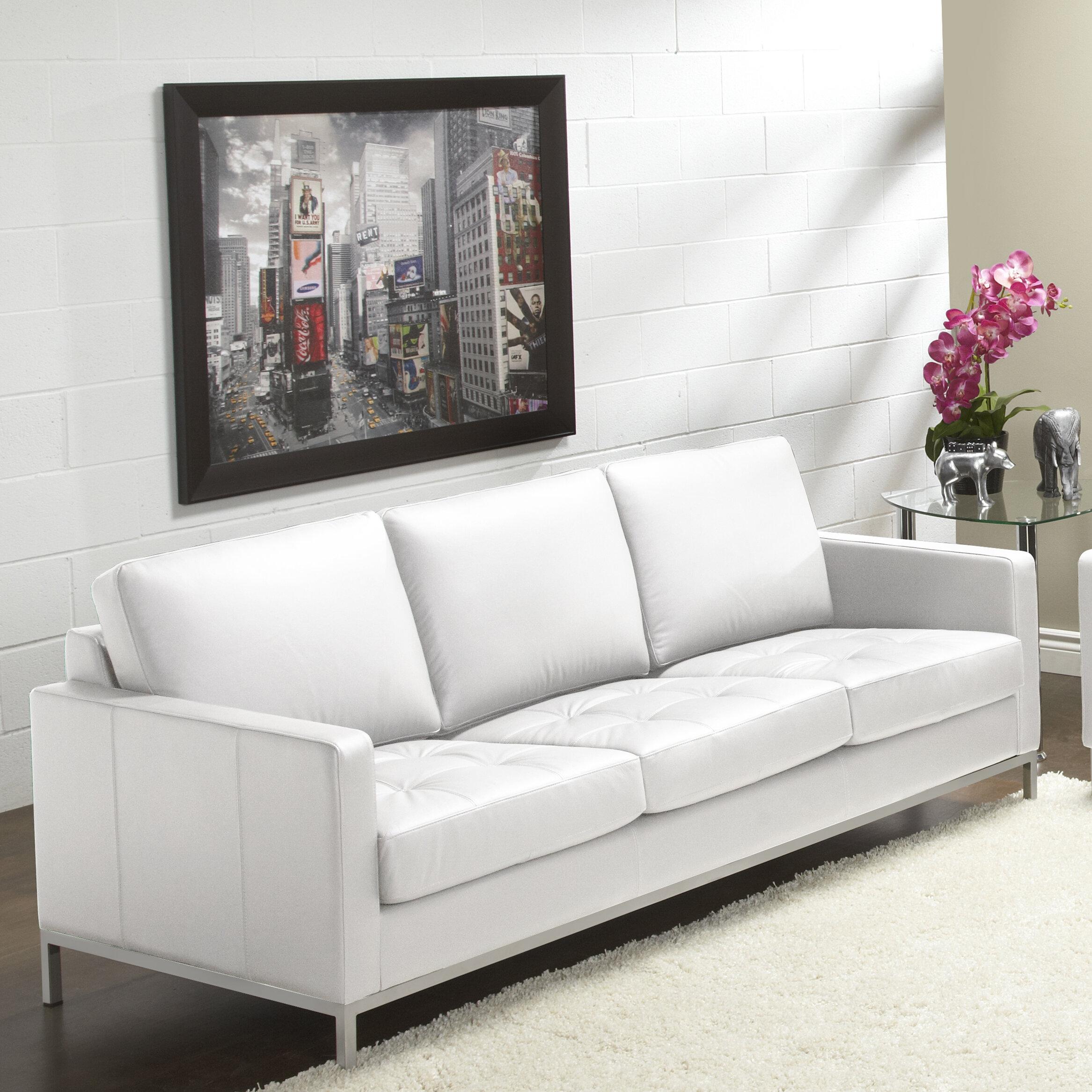 Lind Furniture 244 Series Regency Leather Sofa | Wayfair
