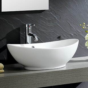 save fine fixtures modern ceramic oval vessel bathroom sink - Modern Bathroom Sinks
