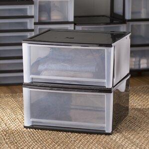 Wayfair Basics 18 9 W Stacking Storage Drawer Set