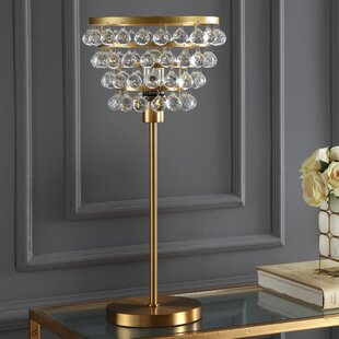 Beau Crystal Chandelier Table Lamp | Wayfair