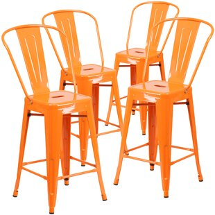 Modern Contemporary Set Of 4 Bar Stools Allmodern