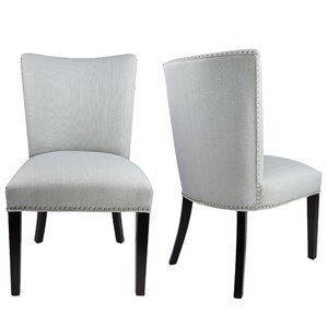 Sydny Concave Back Upholstered Parsons Chair..
