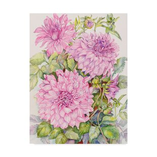 0b7e63f1b55  Lavender Dahlias  Graphic Art Print on Wrapped Canvas
