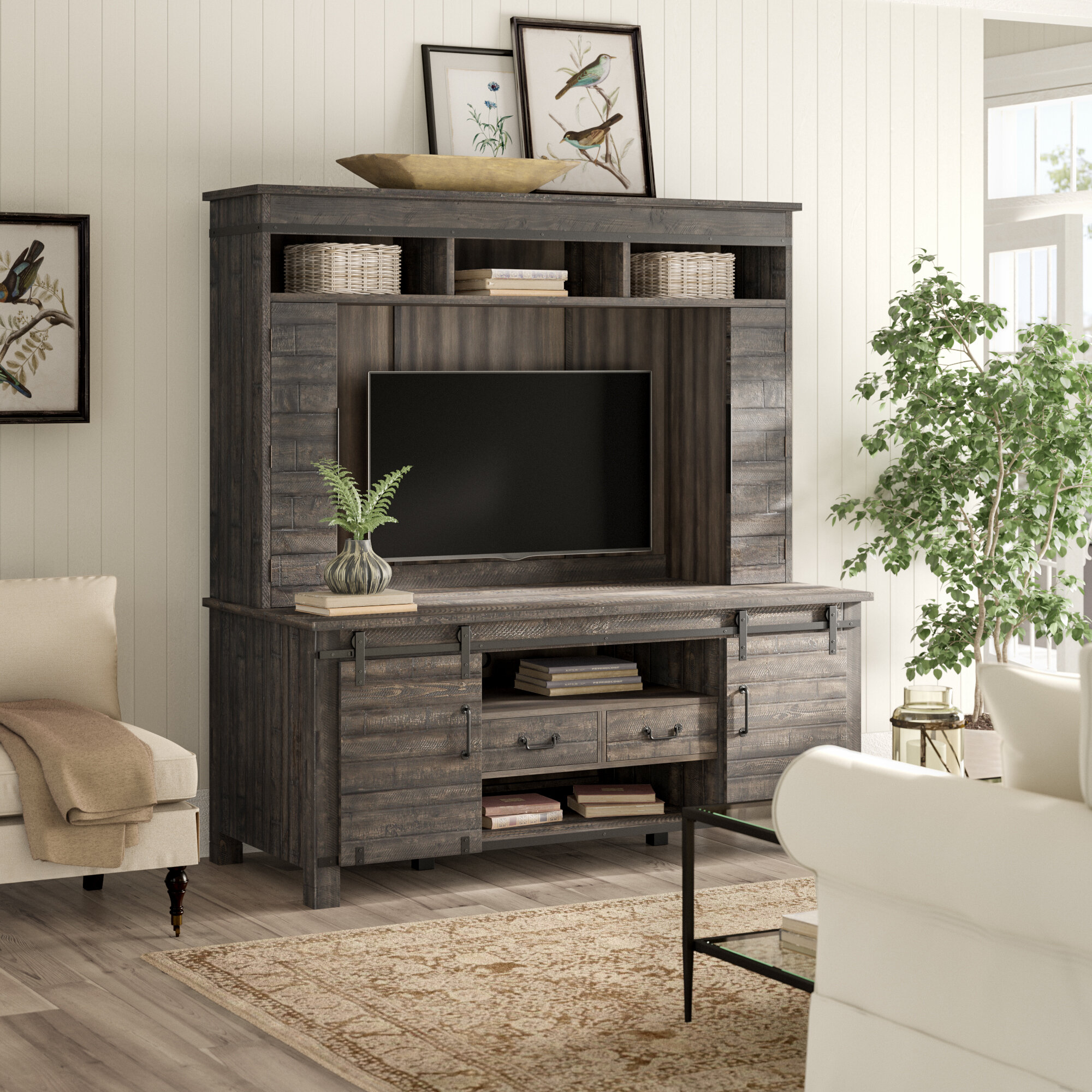Birch lane heritage meto console entertainment center for tvs up to 60 birch lane