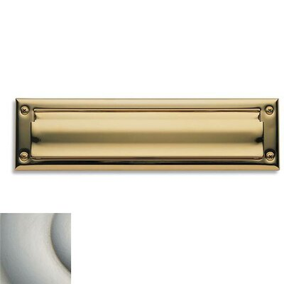 Baldwin 13 in x 3.6 Brass Mail Slot Color: Satin Nickel