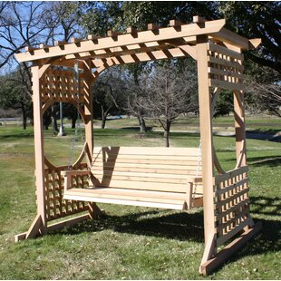 Donath Cedar Arbor Porch Swing With Stand
