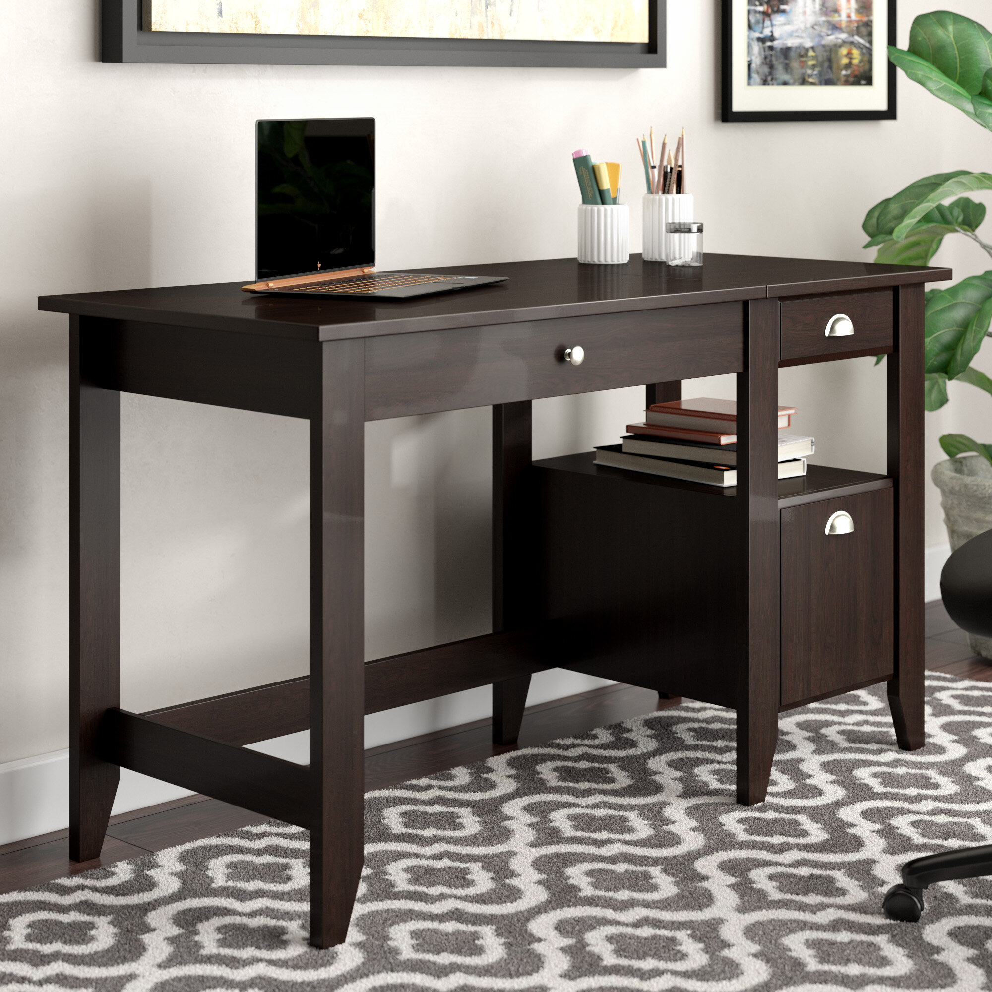 Revere Height Adjustable Standing Desk Converter Reviews Birch Lane