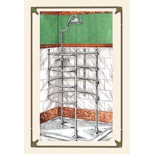 One Piece Corner Shower Stall.  A Shower Stall Graphic Art One Piece Corner Wayfair