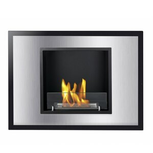 Vienna Recessed Ventless Wall Mount Ethanol Fireplace by Ignis Products