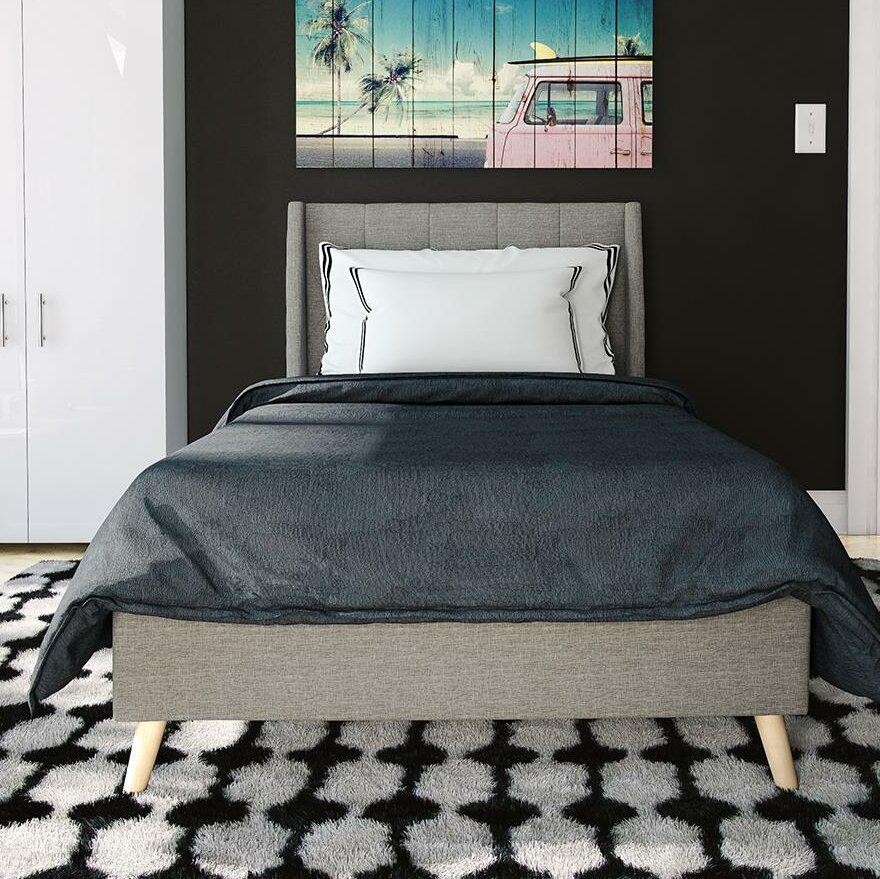 Novogratz Her Majesty Upholstered Platform Bed U0026 Reviews | Wayfair