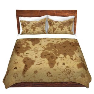 World map bedding sets wayfair whimsical world map i duvet set gumiabroncs Image collections