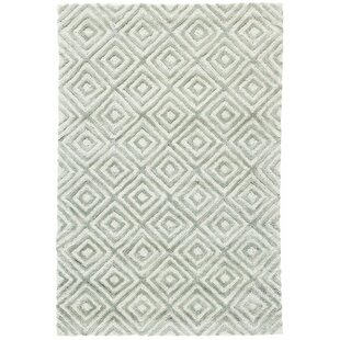 Cut Diamond Ocean Hand Woven Gray Area Rug