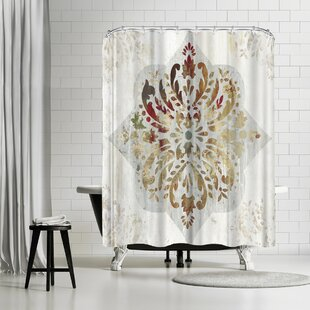 PI Creative Art Red Medallion Shower Curtain
