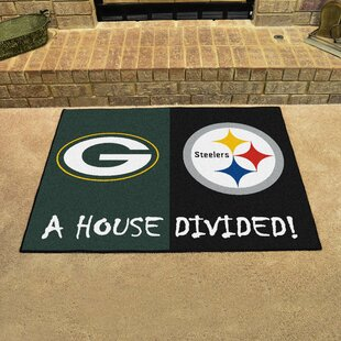 NFL House Divided - Packers   Steelers House Divided Mat 15d6ac6ea