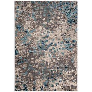 Crosier Grey & Light Blue Area Rug
