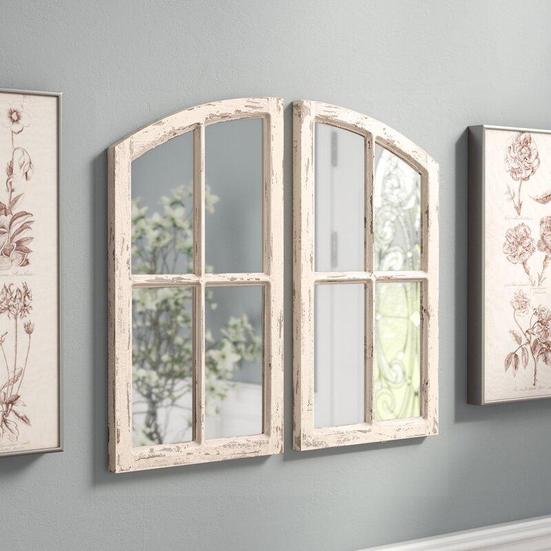 2 Piece Kissena Window Pane Accent Mirror Set Amp Reviews