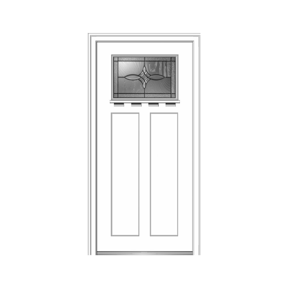 Verona Home Design Craftsman Shaker Smooth 2 Panel Fiberglass