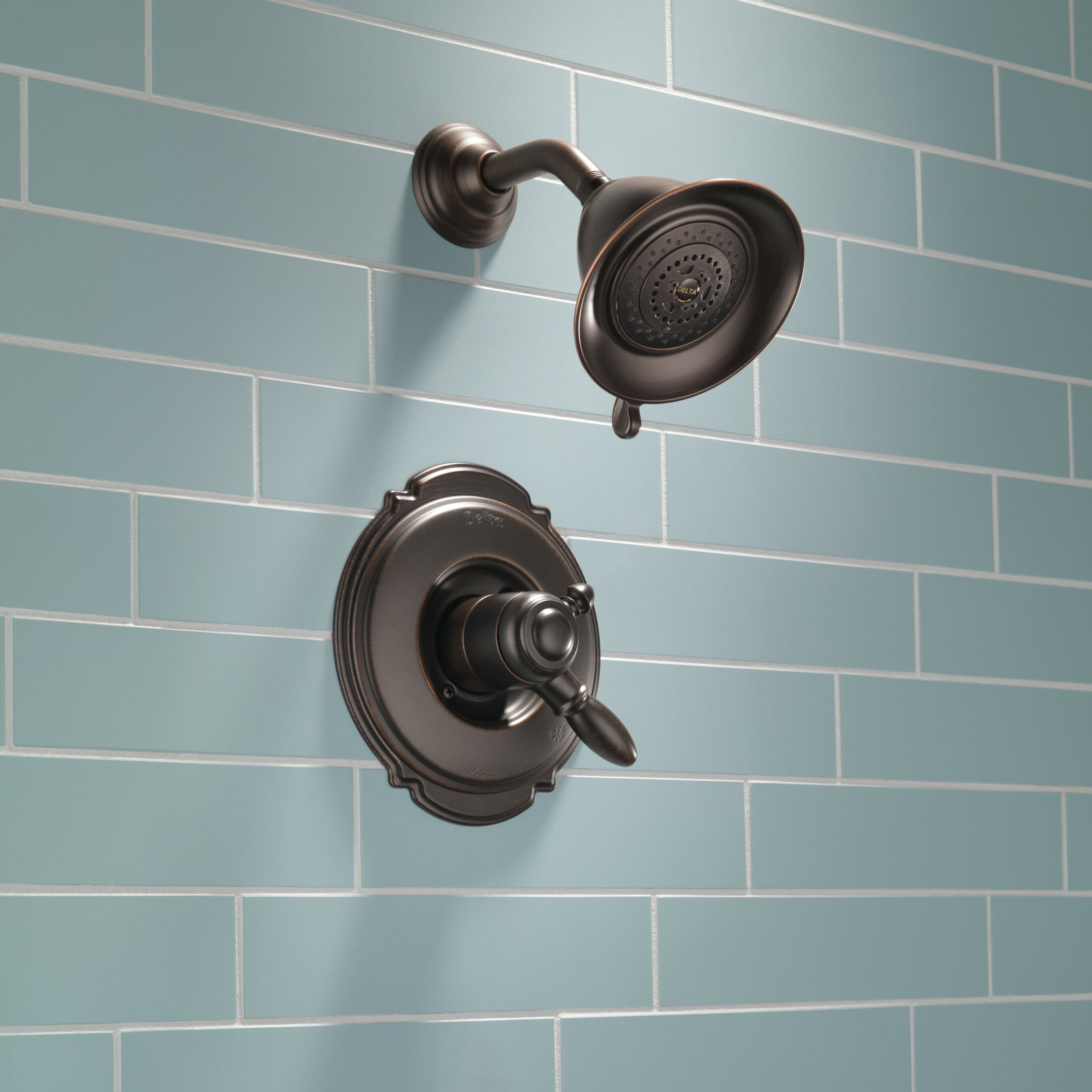 Delta Victorian Pressure Balanced Diverter Shower Faucet Trim With Lever Handles And H2okinetic Technology Reviews Wayfair