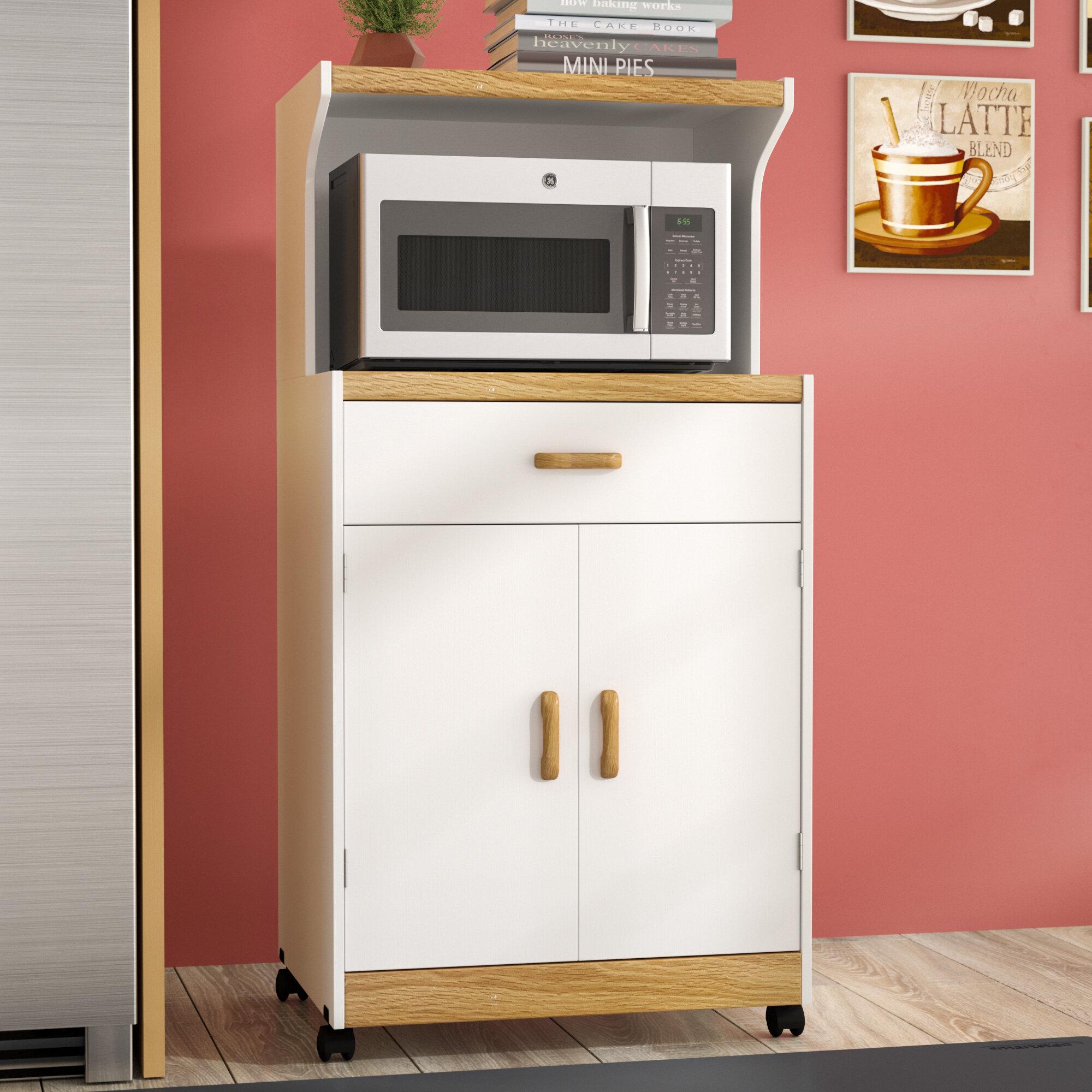 Andover mills berwyn microwave cart reviews wayfair